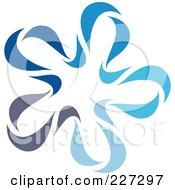 Royalty Free RF Clipart Illustration Of An Abstract Blue Star Logo Icon 6