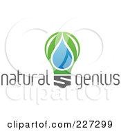 Royalty Free RF Clipart Illustration Of A Natural Genius Light Bulb Logo