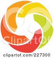 Royalty Free RF Clipart Illustration Of An Abstract Orange Green Red And Yellow Star Logo Icon 11