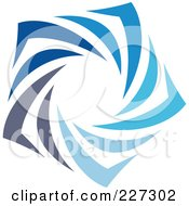 Royalty Free RF Clipart Illustration Of An Abstract Blue Star Logo Icon 8