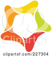 Royalty Free RF Clipart Illustration Of An Abstract Orange Green Red And Yellow Star Logo Icon 10