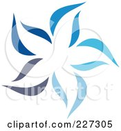 Royalty Free RF Clipart Illustration Of An Abstract Blue Star Logo Icon 9