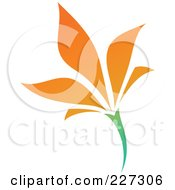 Royalty Free RF Clipart Illustration Of An Orange Flower Logo Icon 8