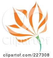 Royalty Free RF Clipart Illustration Of An Orange Flower Logo Icon 13