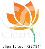 Royalty Free RF Clipart Illustration Of An Orange Flower Logo Icon 16