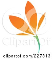 Royalty Free RF Clipart Illustration Of An Orange Flower Logo Icon 6