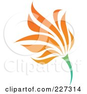 Royalty Free RF Clipart Illustration Of An Orange Flower Logo Icon 15
