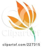 Royalty Free RF Clipart Illustration Of An Orange Flower Logo Icon 7