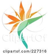 Orange Flower Logo Icon - 11