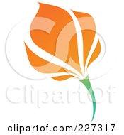 Royalty Free RF Clipart Illustration Of An Orange Flower Logo Icon 14
