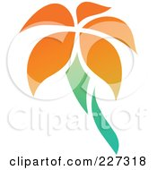 Royalty Free RF Clipart Illustration Of An Orange Flower Logo Icon 12