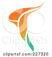 Royalty Free RF Clipart Illustration Of An Orange Flower Logo Icon 1