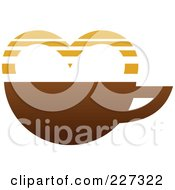 Royalty Free RF Clipart Illustration Of Coffee Logo With A Heart