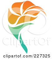 Royalty Free RF Clipart Illustration Of An Orange Flower Logo Icon 10