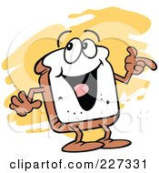 Royalty Free RF Clipart Illustration Of A Sliced Bread Character Gesturing