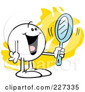 Royalty Free RF Clipart Illustration Of A Happy Moodie Character Looking At His Reflection In A Mirror by Johnny Sajem #COLLC227335-0090