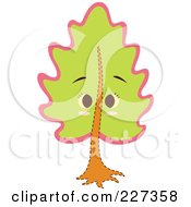 Royalty Free RF Clipart Illustration Of A Cute Tree With A Face 1 by Cherie Reve