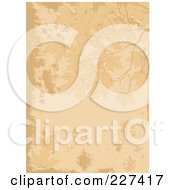 Royalty Free RF Clipart Illustration Of A Grungy Beige Background Of Autumn Leaves