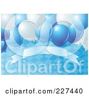 Royalty Free RF Clipart Illustration Of A Blue Oktoberfest Background Of A Diamond Pattern Balloons And A Blank Banner 2 by Pushkin