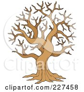 Royalty Free RF Clipart Illustration Of A Bare Tree by visekart