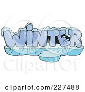 Royalty Free RF Clipart Illustration Of A Frozen Word WINTER With Ice