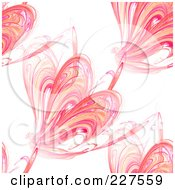 Royalty Free RF Clipart Illustration Of A Seamless Orange And Pink Fractal Background Pattern Over White