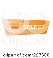 Royalty Free RF Clipart Illustration Of A Select Orange Shopping Cart Button by oboy