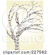 Royalty Free RF Clipart Illustration Of A Tree Made Of Comic Words Over Beige by mheld