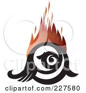 Royalty Free RF Clipart Illustration Of A Flaming Eye Logo Design 2