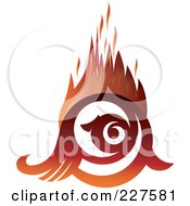 Royalty Free RF Clipart Illustration Of A Flaming Eye Logo Design 1