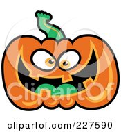 Royalty Free RF Clipart Illustration Of A Smiling Jackolantern