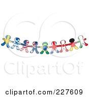 Border Of International Flag Paper Doll Flags