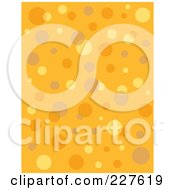 Seamless Background Pattern Of Retro Bubbles On Orange