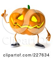 Royalty Free RF Clipart Illustration Of A 3d Jackolantern With An Idea by Julos