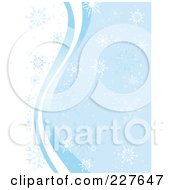 Royalty Free RF Clip Art Illustration Of A Blue And White Winter Background Of Waves And Snowflakes