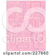 Pink Retro Pattern Background Of Rectangles And Squares