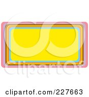 Yellow Urban Horizontal Rectangle Frame With Colorful Trim