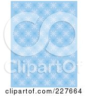 Blue Winter Pattern Of Snowflakes