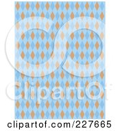 Blue And Orange Diamond Argyle Pattern Background by Andy Nortnik