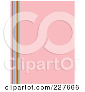 Pink Background With Vertical Colorful Lines On The Left Edge