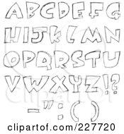 Digital Collage Of Sketched Capital Letter Designs