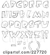 Royalty Free RF Clipart Illustration Of A Digital Collage Of Sketched Capital Letter Designs by yayayoyo