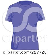 Royalty Free RF Clipart Illustration Of A Plain Blue Womens T Shirt