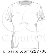 Royalty Free RF Clipart Illustration Of A Plain White Womens T Shirt
