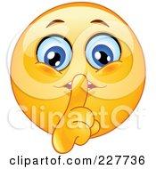 Royalty Free RF Clipart Illustration Of A Yellow Smiley Face Shushing by yayayoyo #COLLC227736-0157