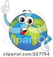 Royalty Free RF Clipart Illustration Of A Smart Globe With An Idea by yayayoyo