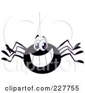Happy Black Spider Grinning