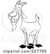 Coloring Page Outline Of A Happy Billy Goat
