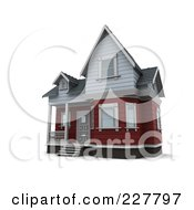 Royalty Free RF Clipart Illustration Of A 3d Victorian Styled Home 1