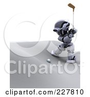 Royalty Free RF Clipart Illustration Of A 3d Robot Golfing 4